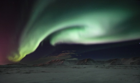 Northern Lights over Mt. Esja
